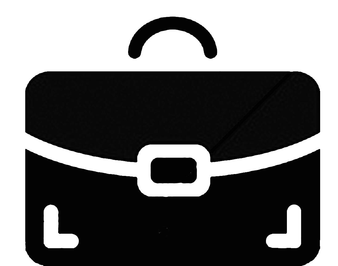icono portafolio grande negro